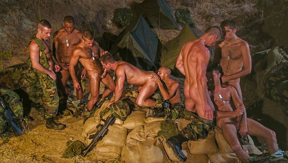 military gay group sex