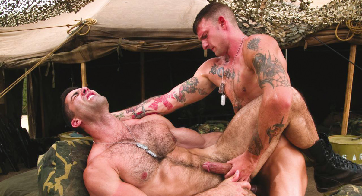 Raging Stallion: Ricky Sinz & Roman Ragazzi - Grunts The New Recruits