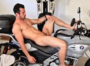 Gay Solo Masturbation : Brock Cooper Motorcycle Solo - Brock Cooper!