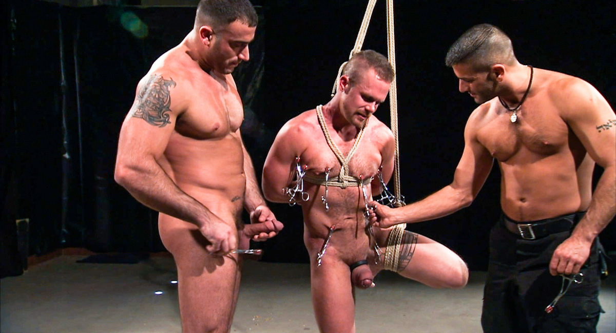 Gay Fetish Sex : Bound Flogged And Fisted - Tony Buff -amp; Spencer Reed -amp; Cullen Cable!