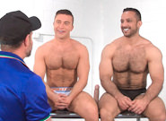 Gay Muscle Men : Post Game Analysis - Adam Tops JR - Adam Champ -amp; JR Bronson!