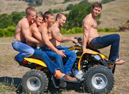 Gay Muscle Men : Gimme Five - Liam Magnuson -amp; Brandon Bronco -amp; Christian Cayden -amp; Austin Storm -amp; Corbin West!