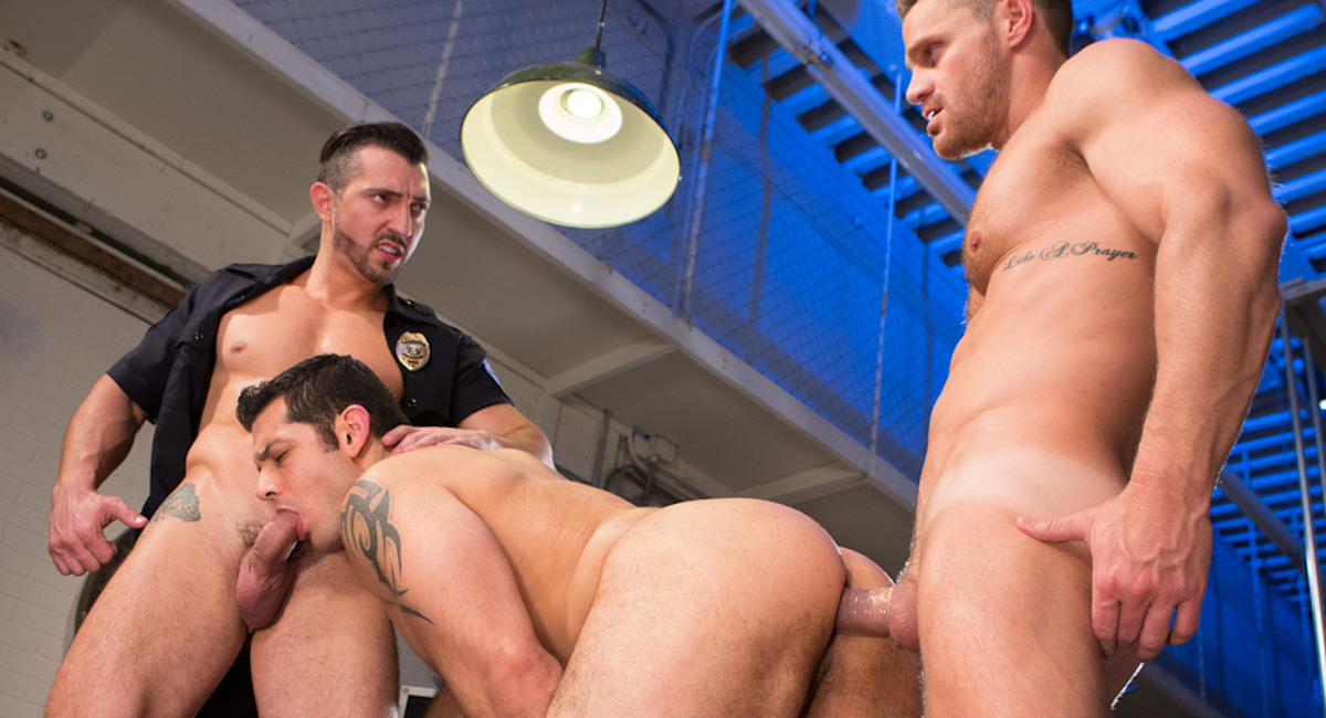 Gay Orgy GroupSex : Hard Time - Jimmy Durano -amp; Landon Conrad -amp; Marcus Ruhl!