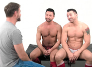 Gay Muscle Men : Post Game Analysis - Jimmy Tops Dominic - Dominic Pacifico -amp; Jimmy Durano!