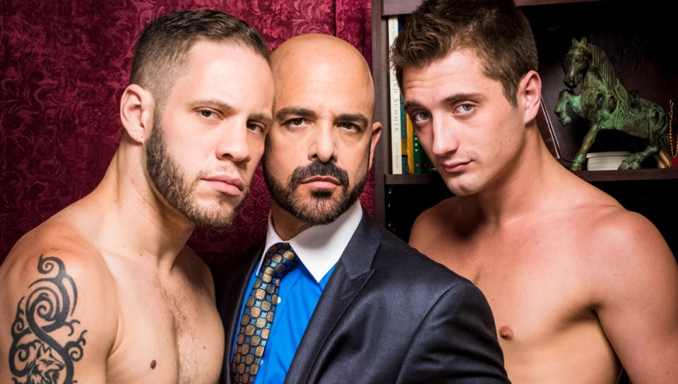 JD Phoenix, Adam Russo & Wolf Hudson – Three-way Debauchery