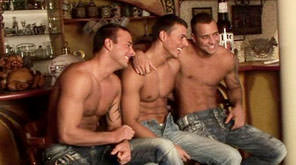 Gay Orgy GroupSex : Bar Backstage - Jason Visconti -amp; Jimmy Visconti -amp; Joey Visconti!