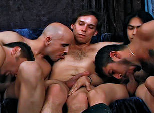 Bareback Creampie Gangbang And 100 Cumshots, Scene #01