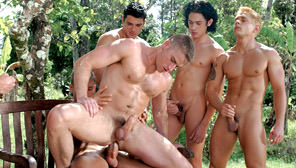 Drenched, Part 1:  Soaking It In : Renato Leon, Jack Ryan, Chet Roberts, Brad Patton, Tommy Brandt