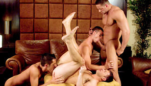 Best Men, Part 1 - The Bachelor Party : Erik Rhodes, Tristan Jaxx, Dylan Saunders, Rusty Stevens