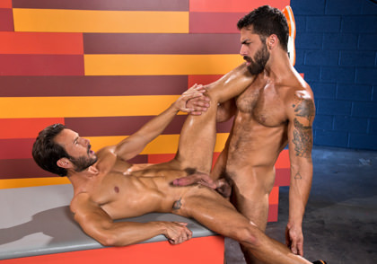 Raging Stallion: Adam Ramzi & Mark Sanz - Hot As Fuck